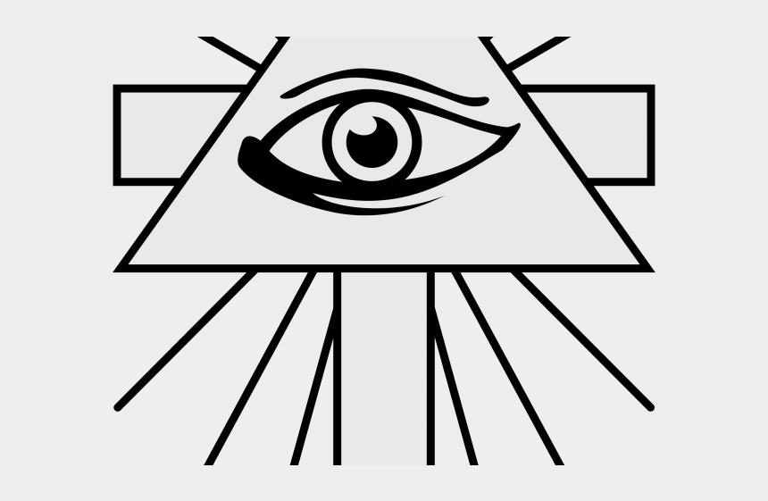 pyramid clipart black and white, Cartoons - Drawn Pyramid All Seeing Eye - All Seeing Eye Cross