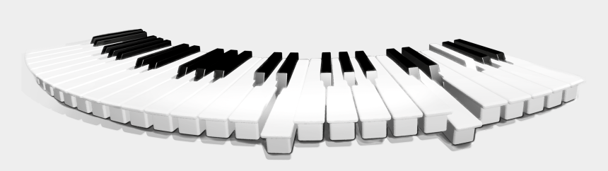 piano keyboard clipart black and white, Cartoons - Piano Keyboard Png - Teclados Musical Png