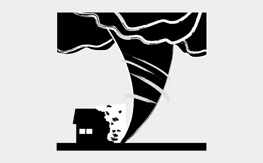 tornado clipart black and white, Cartoons - School And Study - Disaster Pictogram