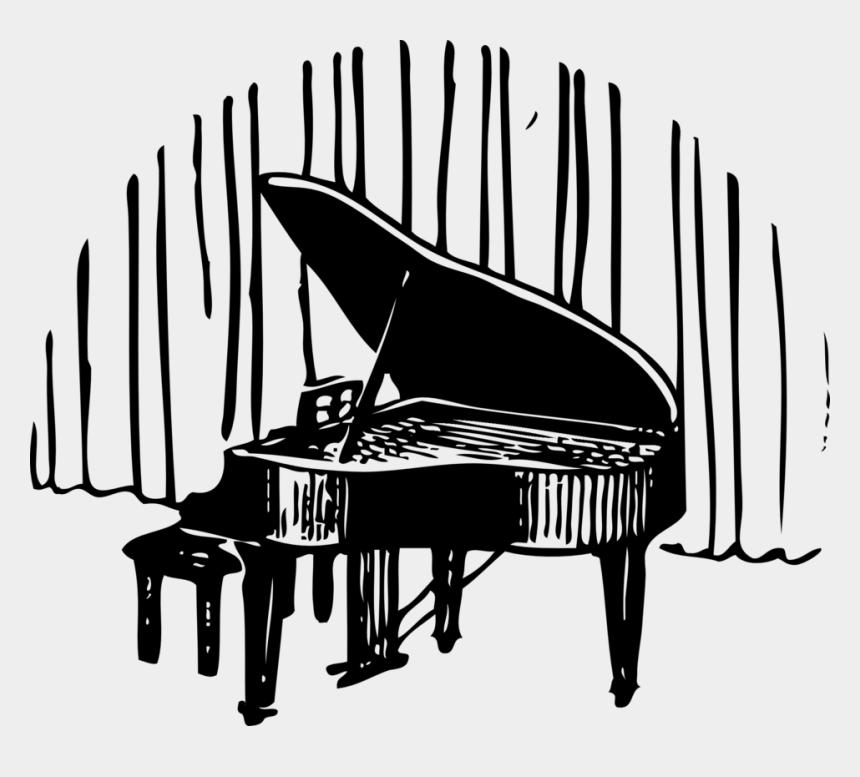 piano keyboard clipart black and white, Cartoons - Piano Musical Keyboard Art - Fortepian Clipart
