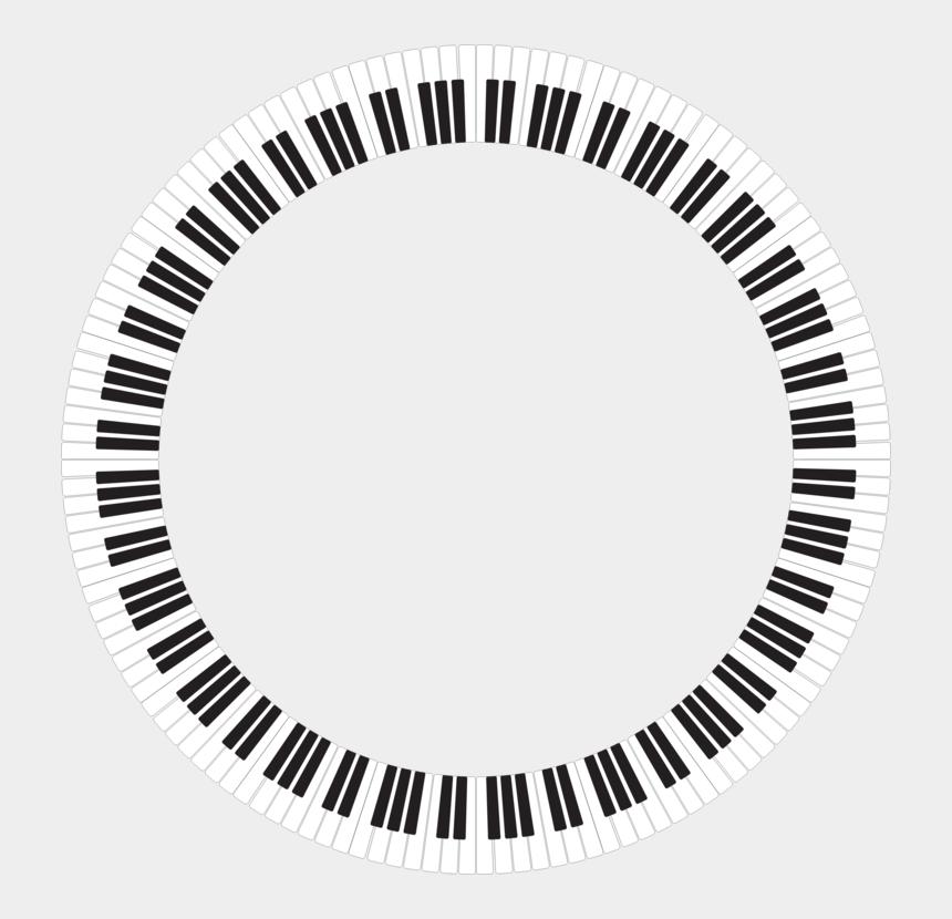 piano keyboard clipart black and white, Cartoons - Musical Keyboard Piano Circle - Great British Porridge Co