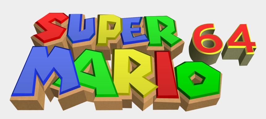 jugar videojuegos clipart, Cartoons - Nintendo 64 Png Logo - Super Mario 64 Logo Png
