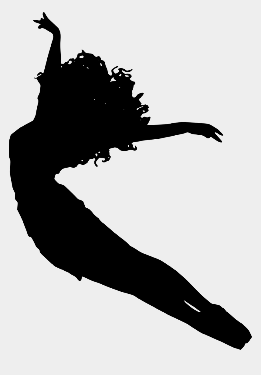 ballet clipart black and white, Cartoons - Ballet Vector Girl - Transparent Background Silhouette Of A Dancer