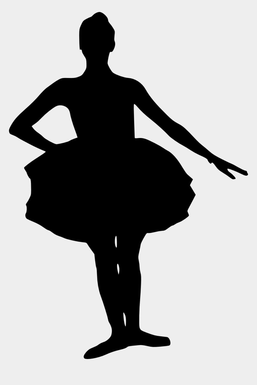 ballet clipart black and white, Cartoons - Little Girl Ballerina Silhouette - Ballerina Child Silhouette