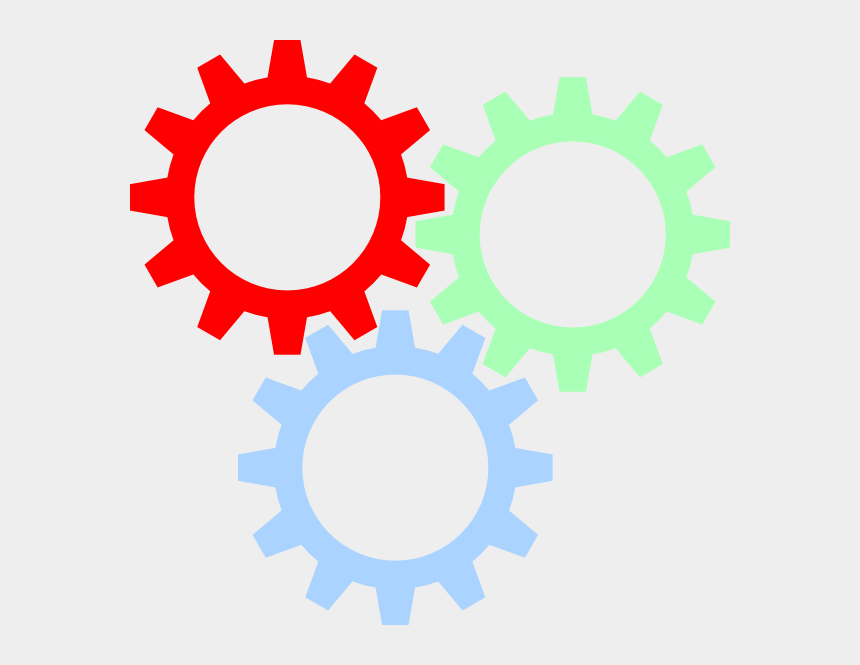 colorful gears clipart, Cartoons - Gear Wheel