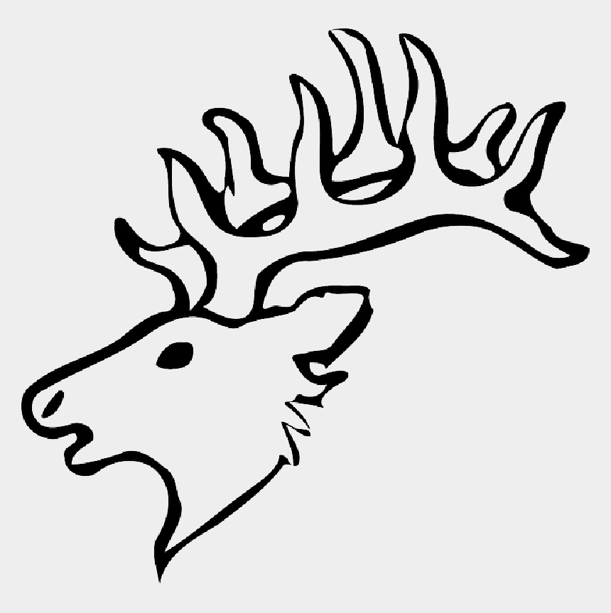 hunting rifle clipart black and white, Cartoons - Head, Silhouette, Face, Skull, Cartoon, Deer, Heads - Draw A Easy Deer Head