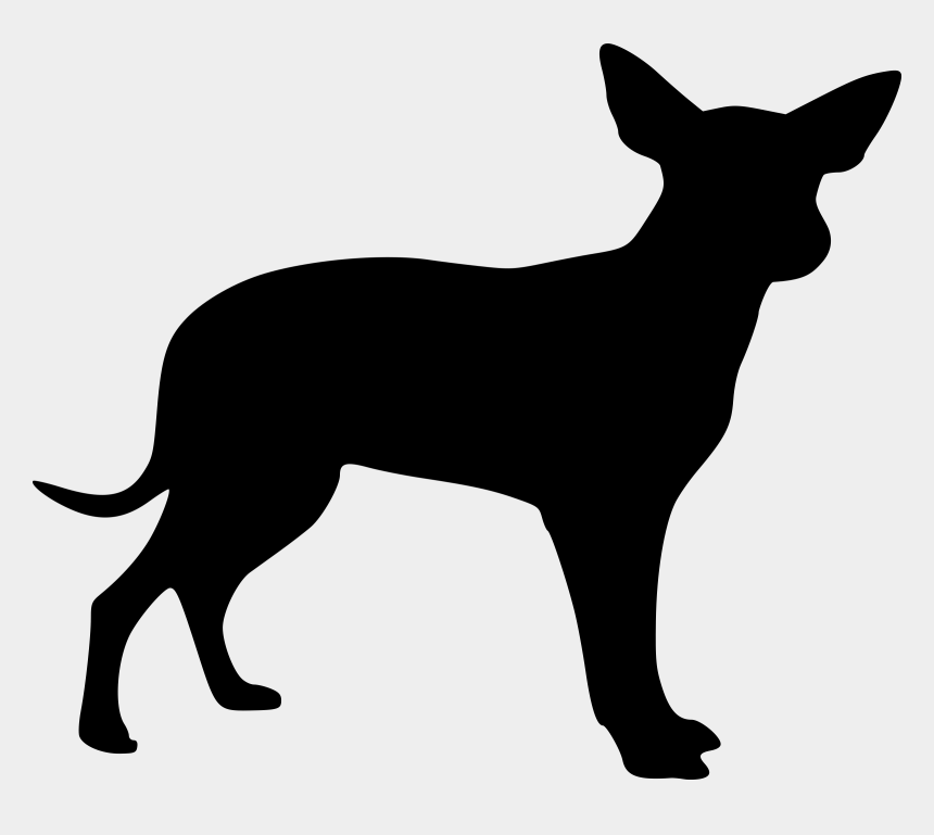 coyote clipart black and white, Cartoons - Coyote Clipart Transparent - Small Dog Silhouette Clipart
