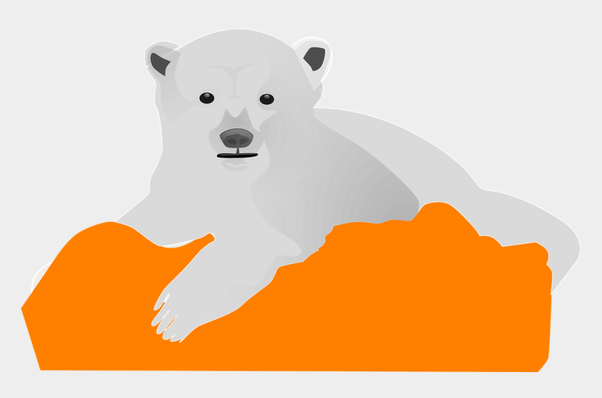 polar bear on ice clipart, Cartoons - Ice Bear Polar Cold Animal White Arctic Cute - Polar Bear Clip Art