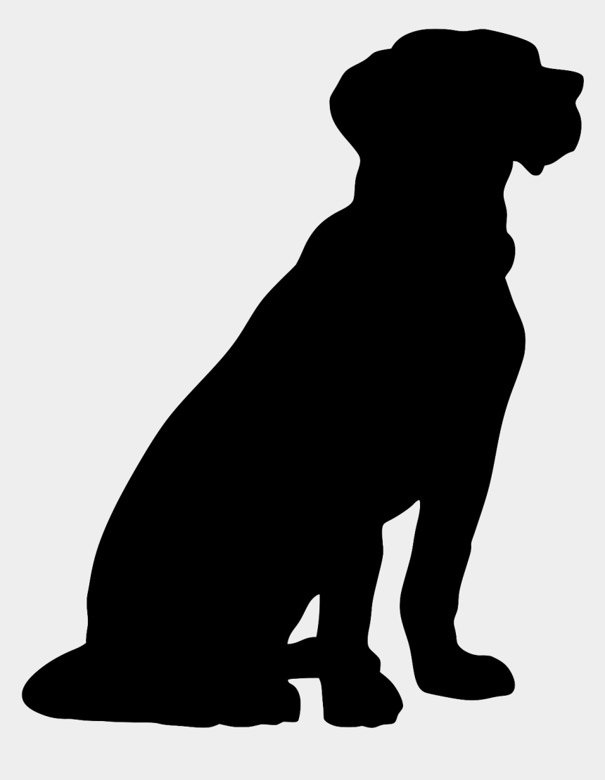 pet clipart black and white, Cartoons - Pets Clipart Dog Training - Dog Sitting Silhouette Png