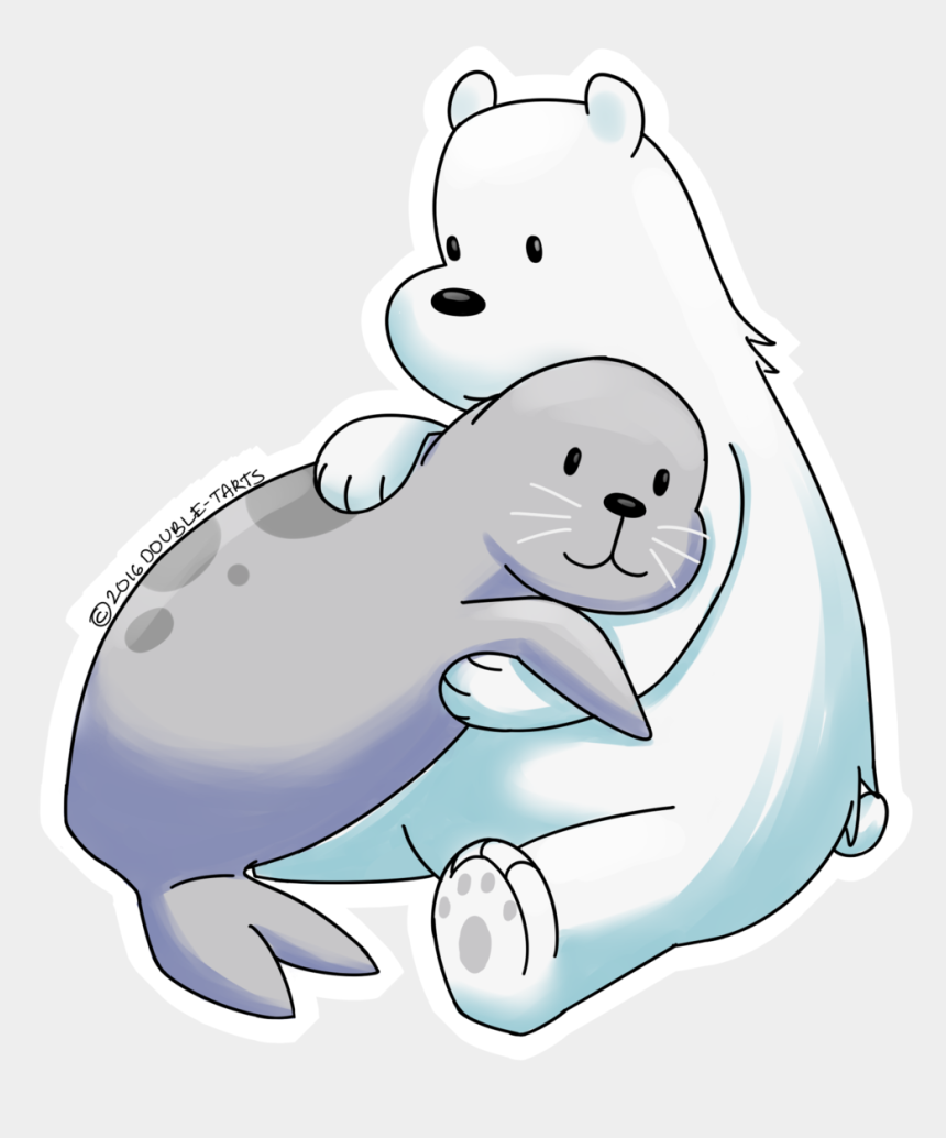 polar bear on ice clipart, Cartoons - We Bare Bears, Cute Cartoon, Hedgehog, Cute Comics, - Clipart Baby Polar Bear