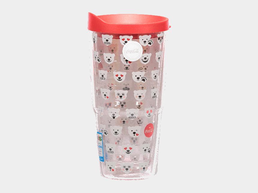 polar bear on ice clipart, Cartoons - Coca-cola Polar Bear Emoji Clear Tervis Tumbler - Coffee Cup