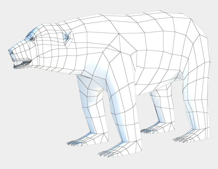 polar bear on ice clipart, Cartoons - Low Poly Polar Bear - Polar Bear