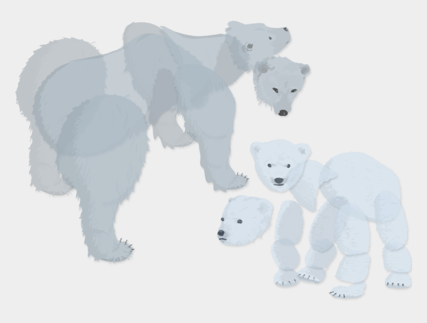 polar bear on ice clipart, Cartoons - Museum Visitors Use Their Movements To Reunite A Mother - Cartoon