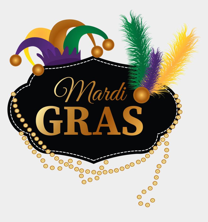 mardi gras beads clipart, Cartoons - Mardi Gras Logo - Illustration