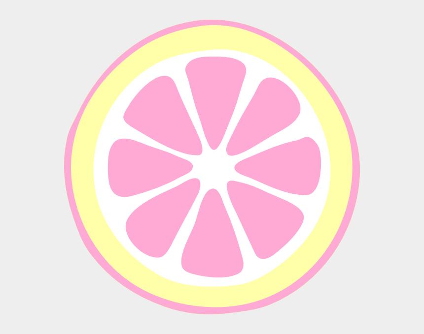 lemon slice clipart, Cartoons - Pink Lemon Slices