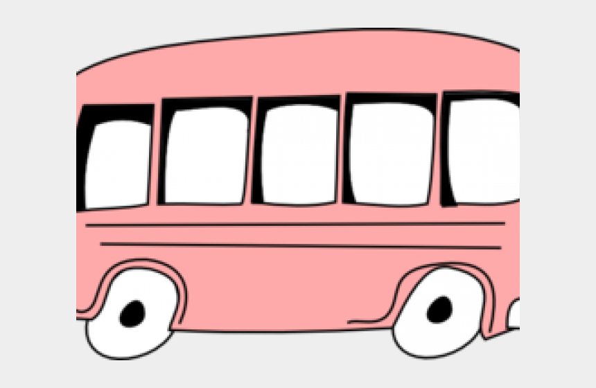 public transportation clipart, Cartoons - Clipart Bus Pink