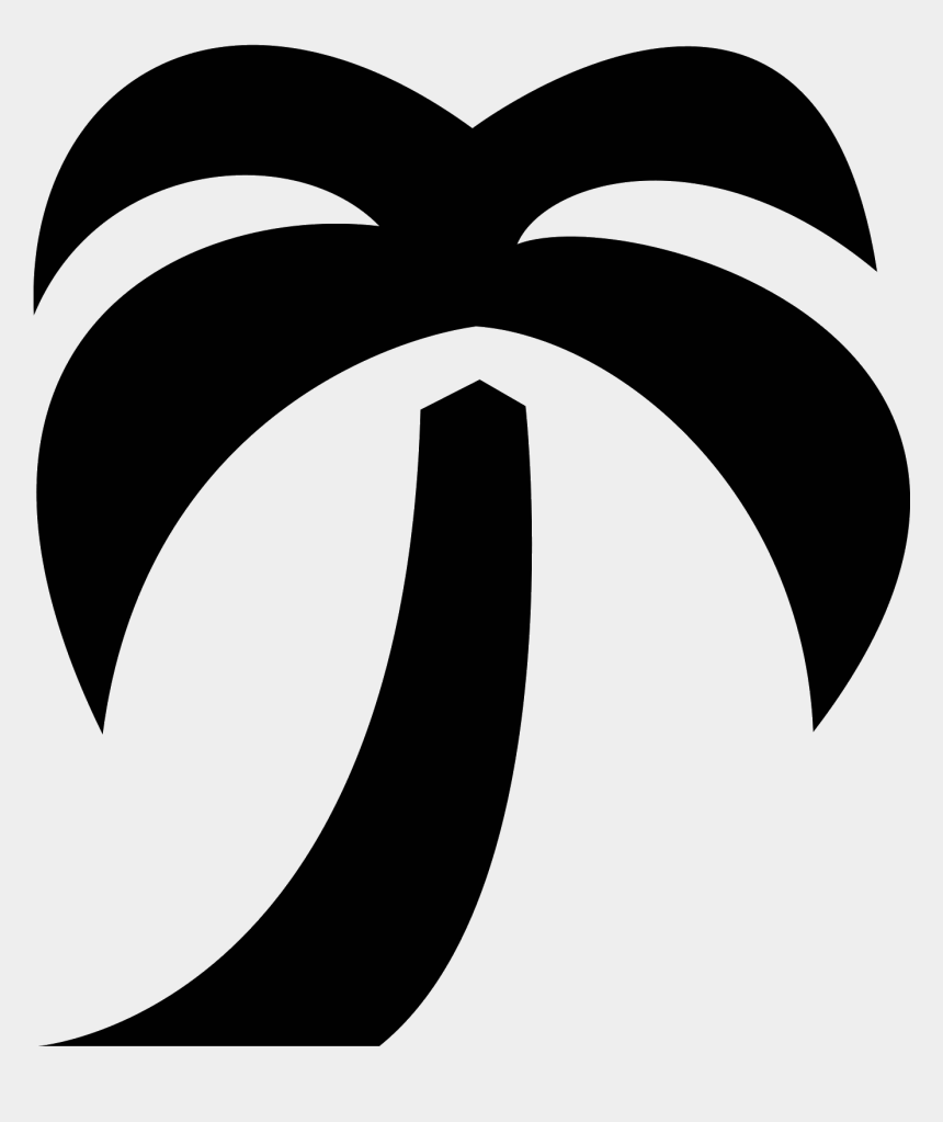 palm trees clipart black and white, Cartoons - Palm Tree Black Png - Palm Tree Bullet Points