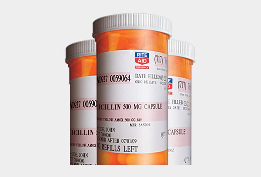 prescription bottle clipart, Cartoons - Medicine Transparent Perscription - Rite Aid Pharmacy Label