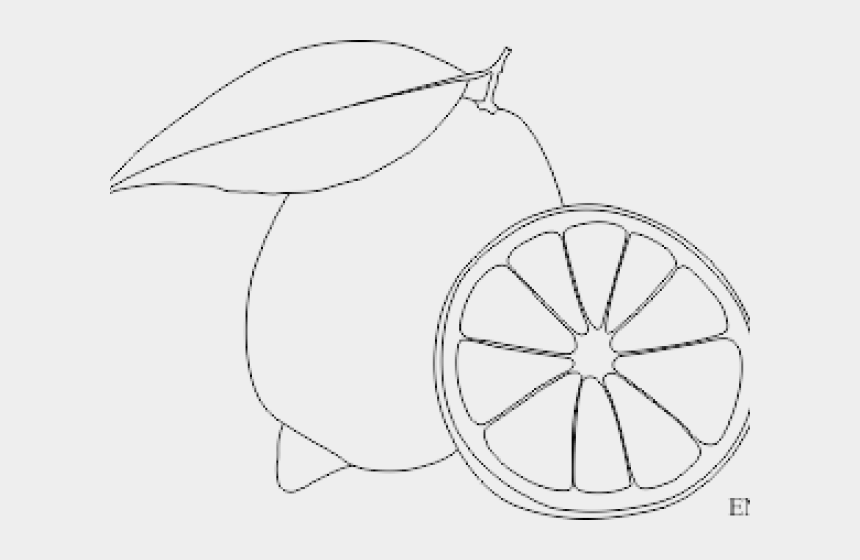lemon clipart black and white, Cartoons - Drawn Lemon Black And White - Lemon Image For Drawing