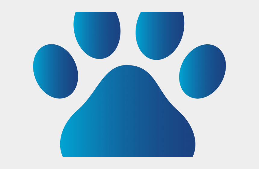 dog paws clipart, Cartoons - Dog Paw Print Clipart - Blue Dog Paw Print