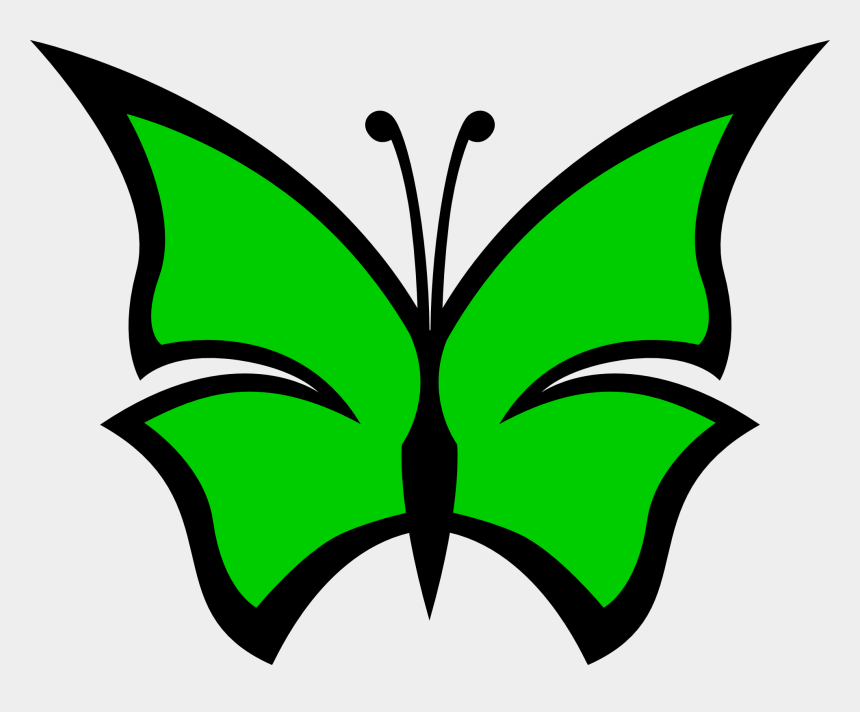 green crayon clipart, Cartoons - Green - Color - Clipart - Simple Butterfly Drawing With Colour