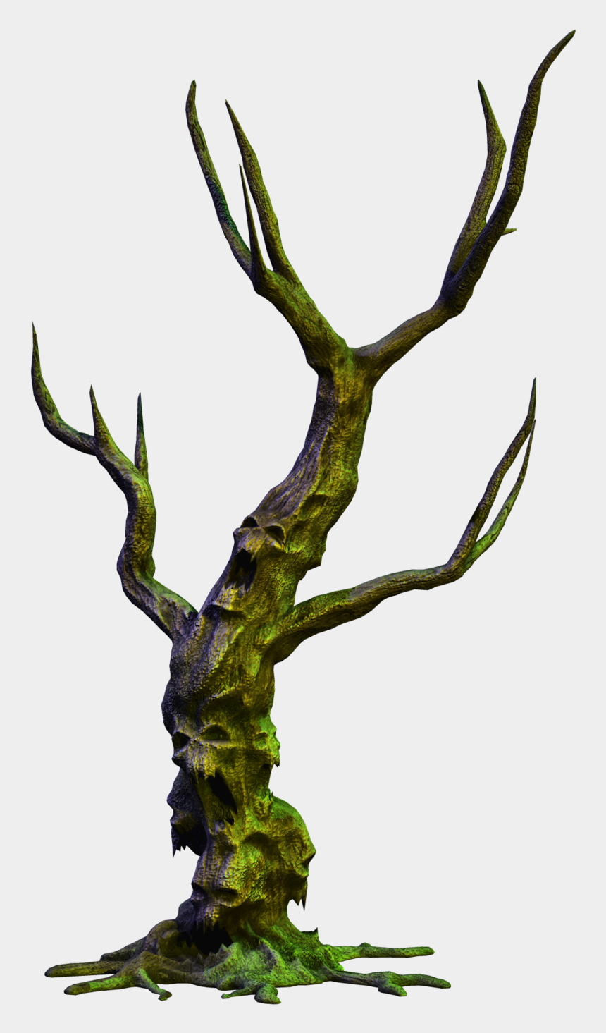 spooky tree clipart, Cartoons - Spooky Tree Png Jpg Download - Old Scary Tree Png