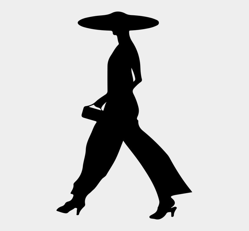 walking dead clipart, Cartoons - Female, Silhouette, Walking, Woman - Walking Woman Gif Png