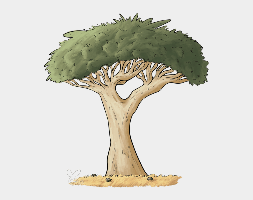 spooky tree clipart, Cartoons - Drawing Creepy Tree - Dragon Blood Tree Drawing