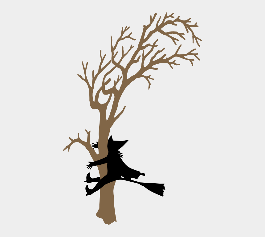 spooky tree clipart, Cartoons - Witch Crash2 Witch Silhouette, Silhouette Portrait, - Tree Crashing Witch Stencil