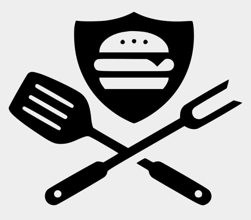 bbq clipart black and white, Cartoons - Hamburger Svg Bbq - Retro Food Logo