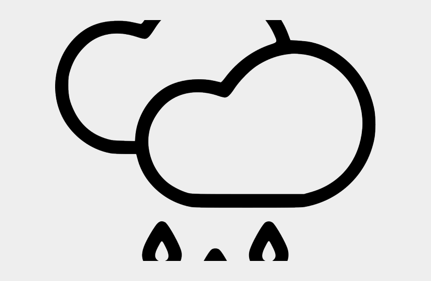rain drops clipart, Cartoons - Drawing Raindrops Black And White - Cloud