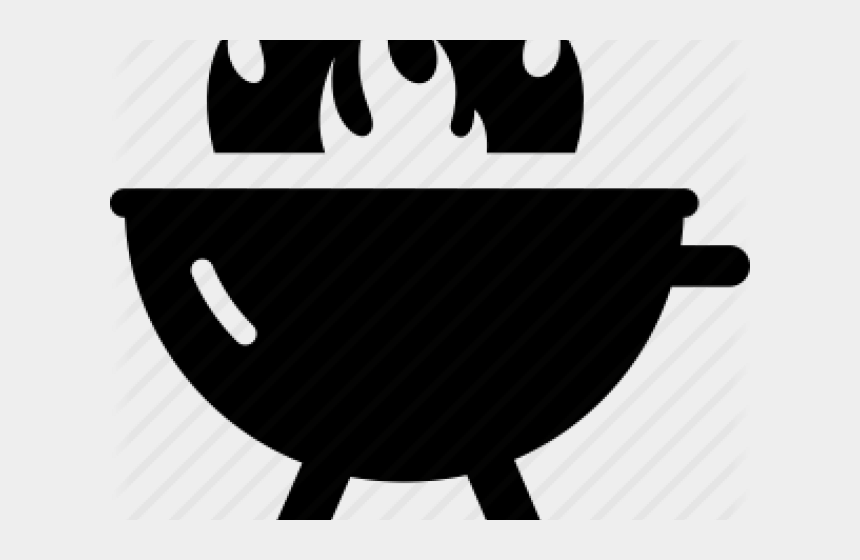 grill clipart black and white, Cartoons - Bbq Grill With Flame Clipart