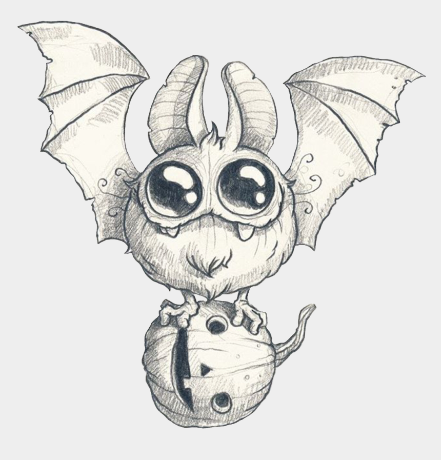 cute halloween bat clipart, Cartoons - #bat #cute #halloween #pumpkin #freetoedit - Drawing Morning Scribble Monster