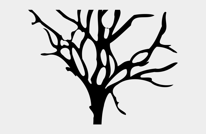 tree stump clipart black and white, Cartoons - Drawn Dead Tree Long Branch Drawing - Dead Tree Vector Png