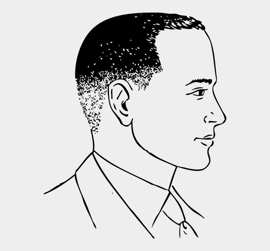 gentleman clipart, Cartoons - Man Gentleman Clean Shaven Haircut Close Cropped - Side View Of Cartoon Face