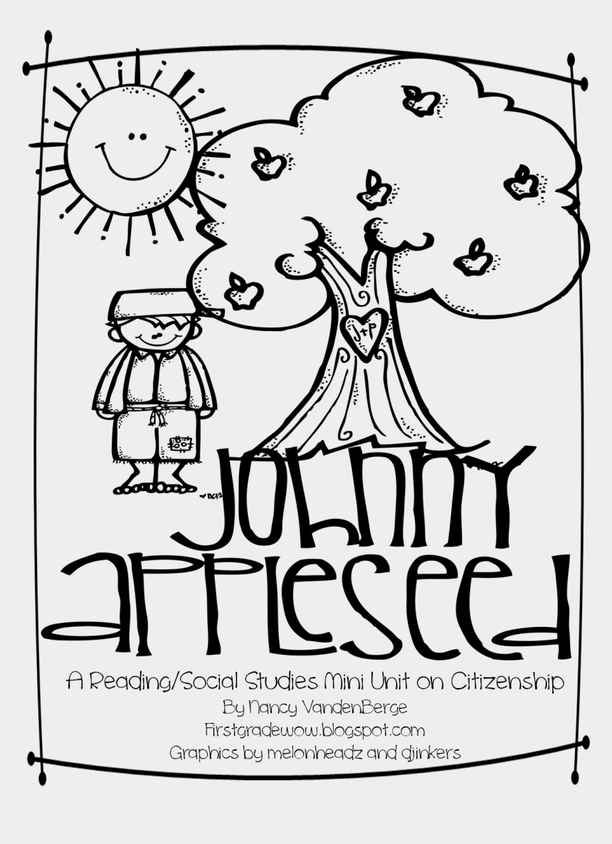 social studies clipart black and white, Cartoons - Johnny Appleseed = Good Citizenship - Johnny Appleseed Good Citizen