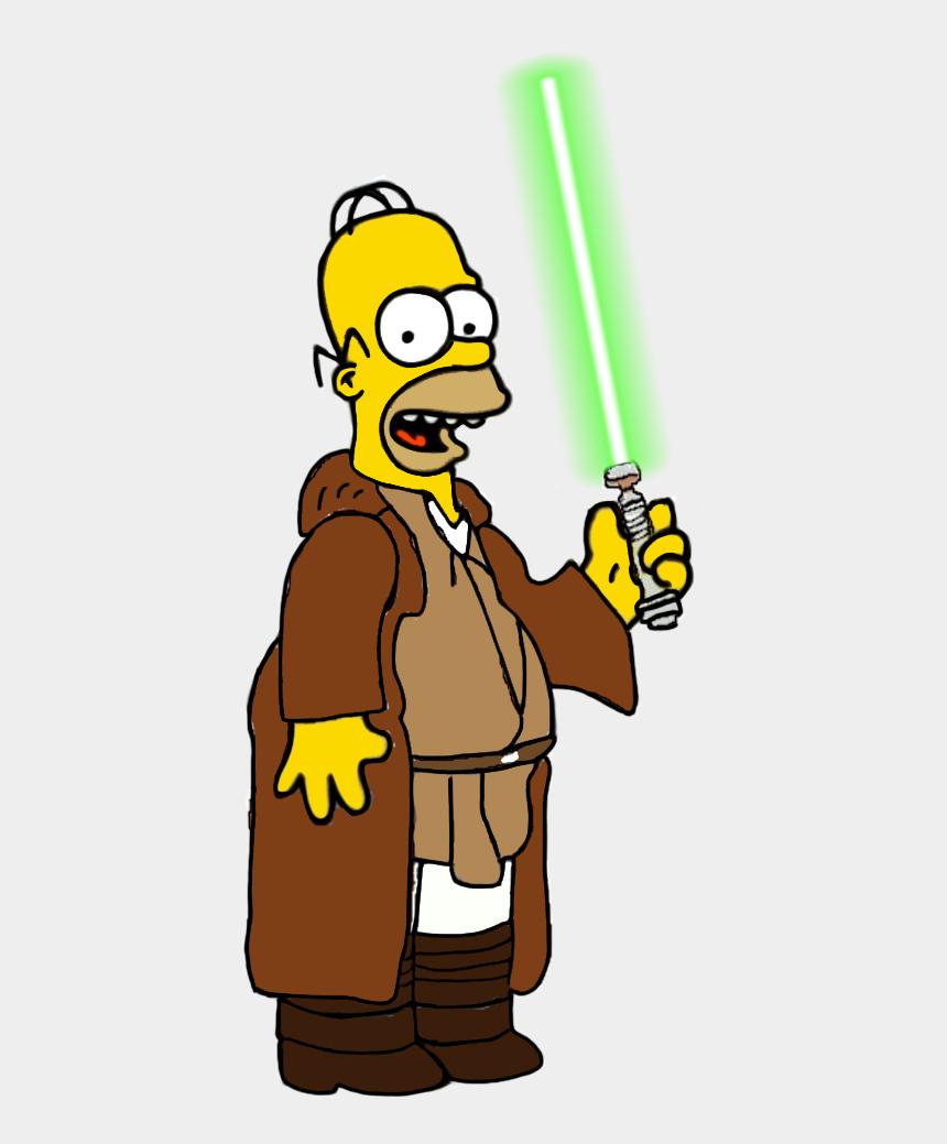 light saber clipart, Cartoons - Simpsons Sticker - Homer Simpson Jedi