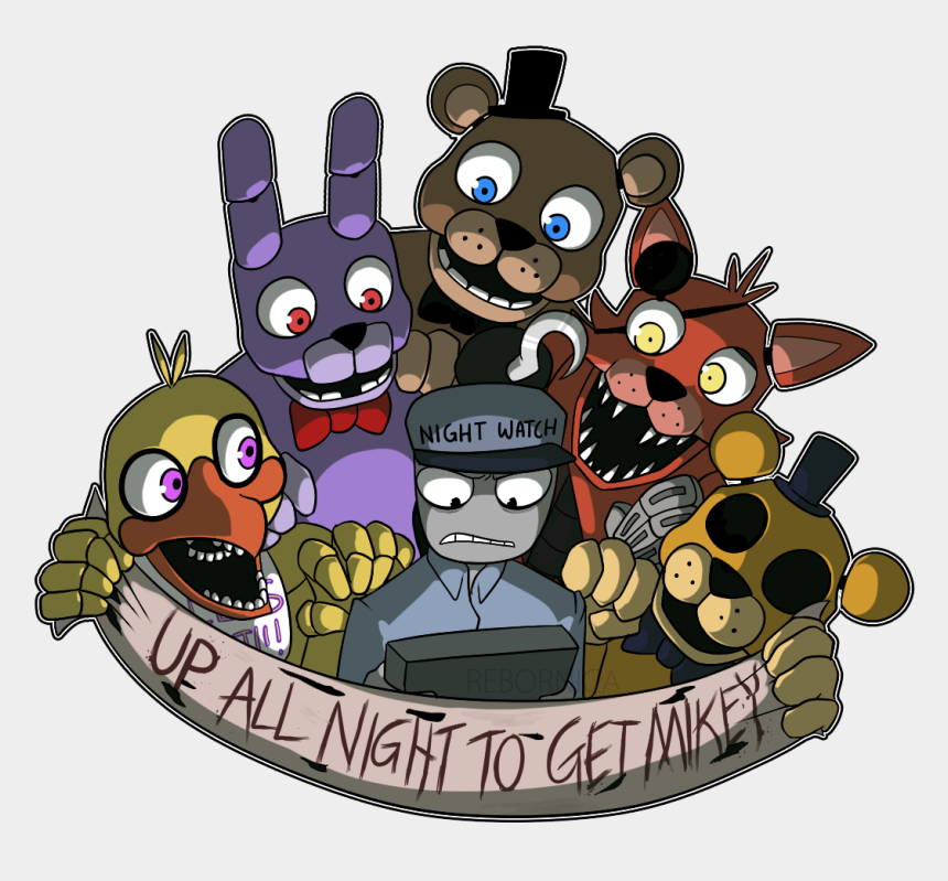 to get up clipart, Cartoons - ~up All Night To Get Mikey~ - Fnaf Security Guard Anime