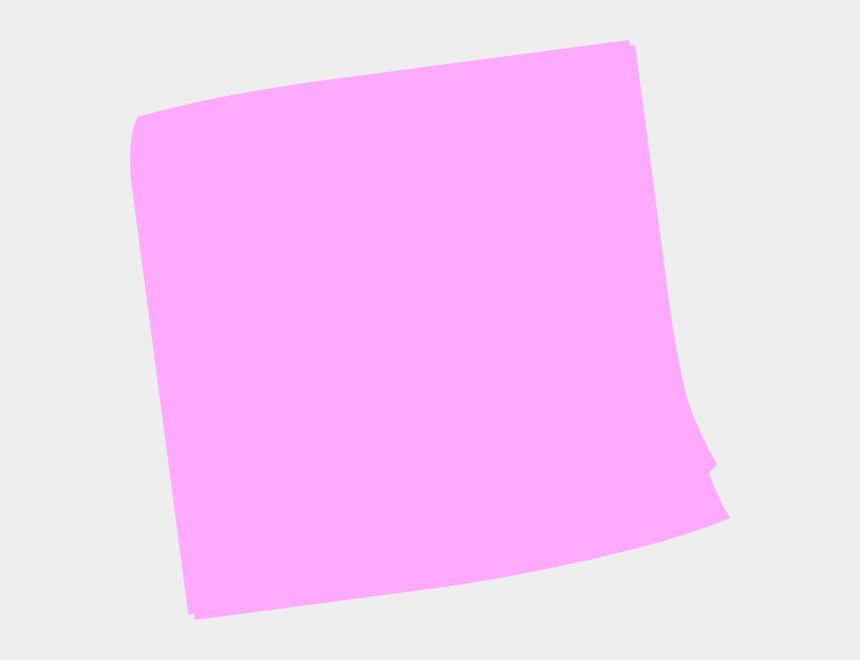 post it notes clipart, Cartoons - Pink Post It Note