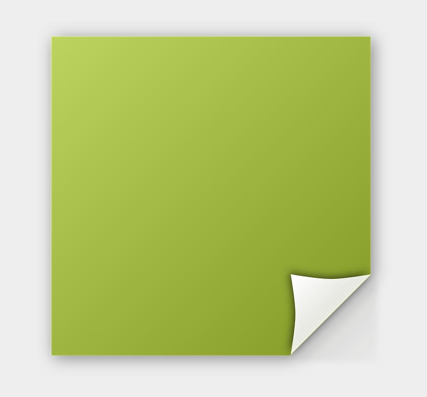 post it notes clipart, Cartoons - Gambar Note Png - Green Transparent Post It Note