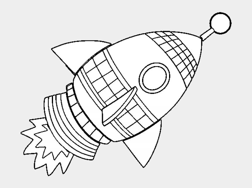 rocketship clipart, Cartoons - Picture Of Rocket Ship - Moon Rocket Coloring Page