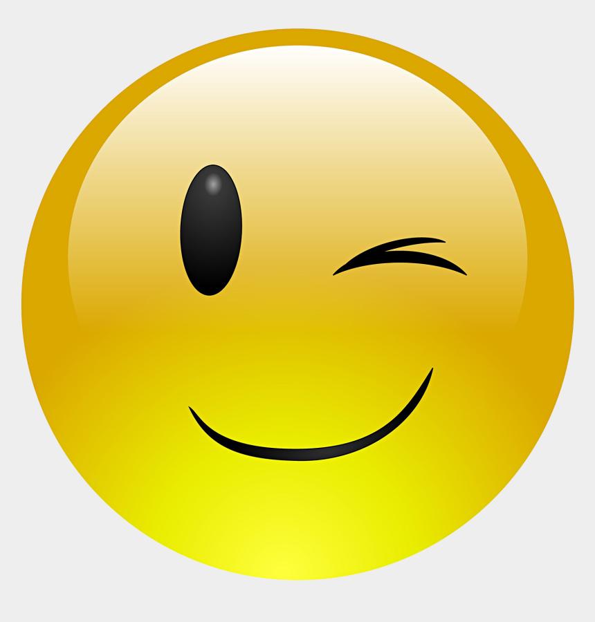 wink clipart, Cartoons - Emoji Face Clipart Wink - Whatsapp Dp Sad Smiley