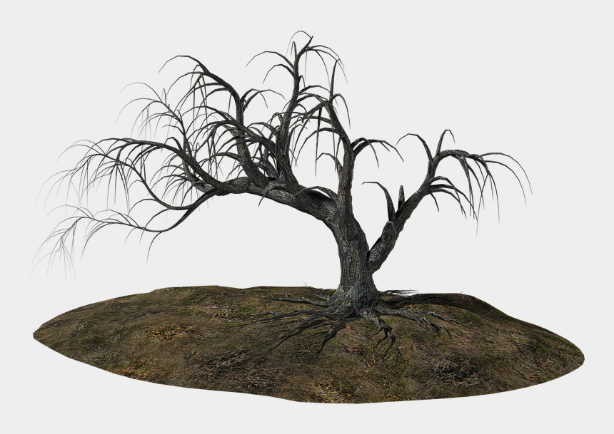 bare tree trunk clipart, Cartoons - Old Tree Download Png Image - Floating Island Painting