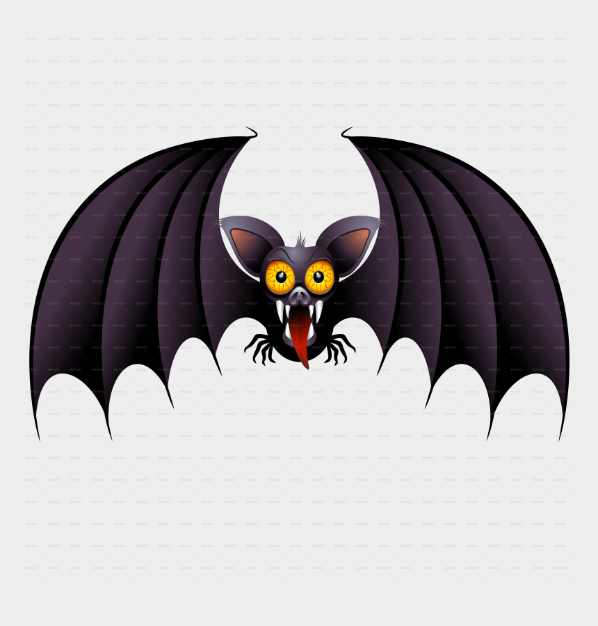 halloween bats clipart, Cartoons - Bat Clipart Blue - Scary Cartoon Halloween Bat