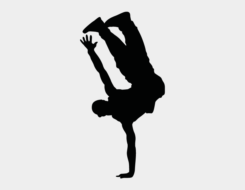 hiphop dance clipart, Cartoons - Break Dance Clip Art - Hip Hop Dancer Silhouette