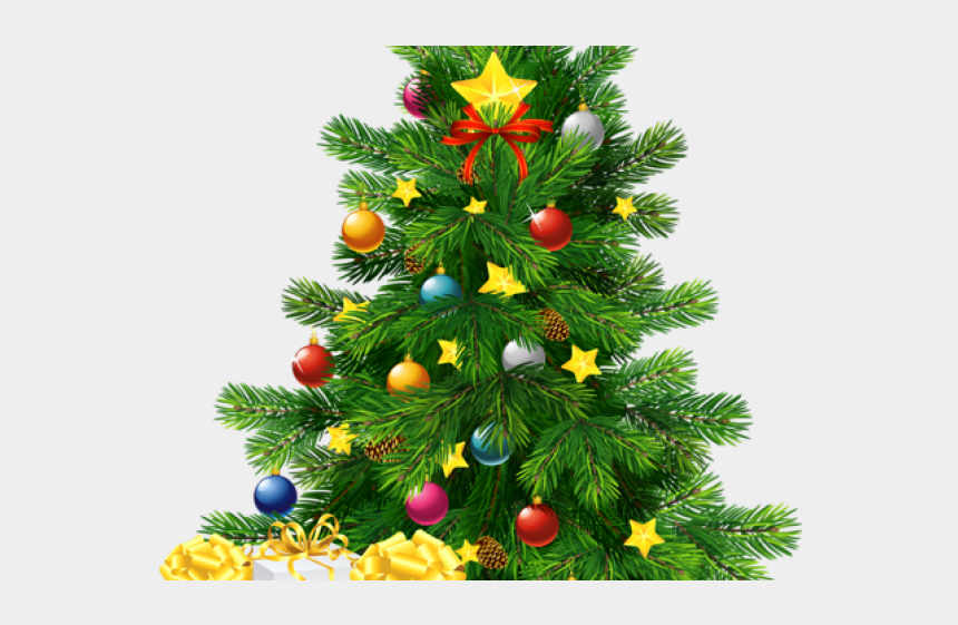 decorated christmas tree clipart, Cartoons - Christmas Trees Clipart - Christmas Tree With Gifts Png