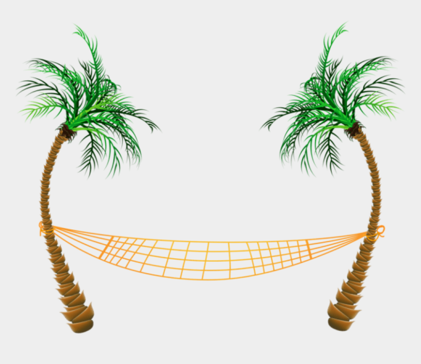 coconut trees clipart, Cartoons - Date Palm Clipart Hawaii Palm Trees - Palm Tree With Hammock Clip Art
