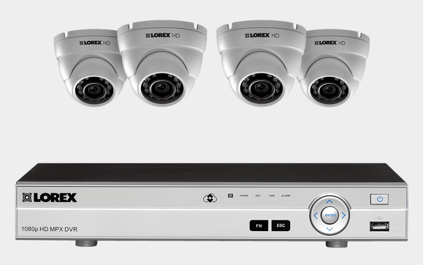 security cameras clipart, Cartoons - 1080p Hd Home Security System With 4 Outdoor Dome Cameras - Wireless Security Camera System Canada