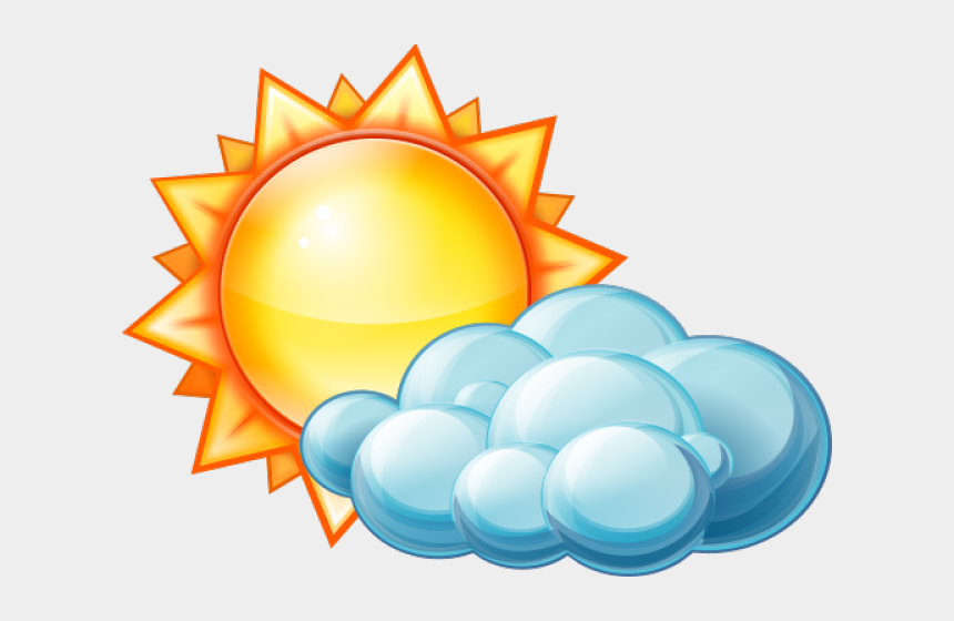 partly cloudy clipart, Cartoons - Partly Cloudy Weather Icon