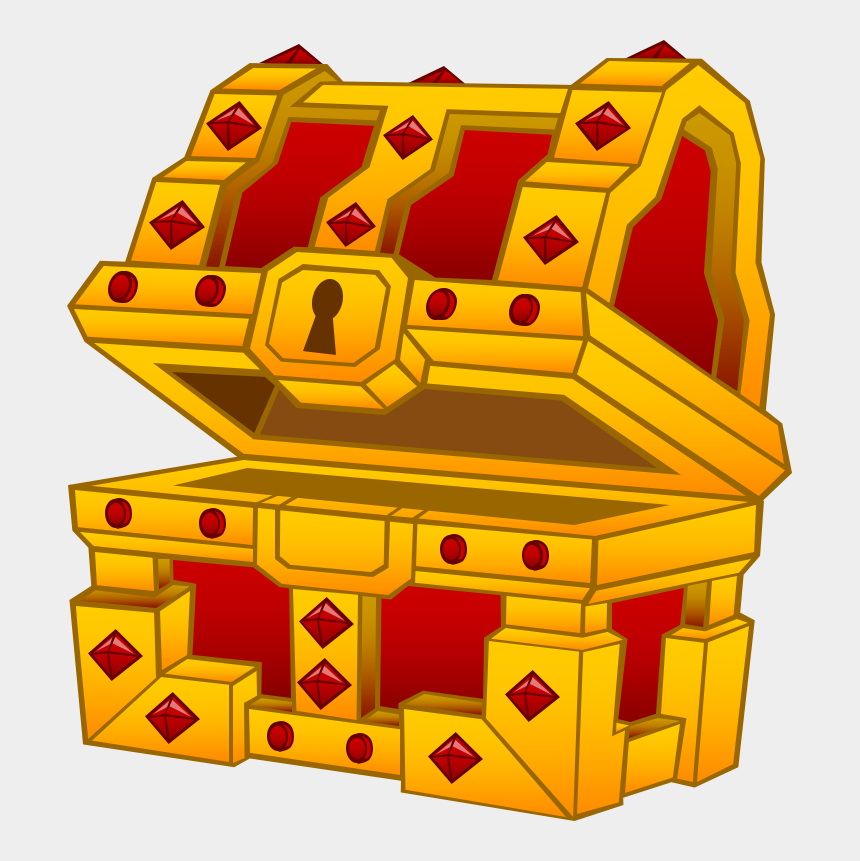 open treasure chest clipart, Cartoons - Fee, Treasure Chest Levels - Illustration